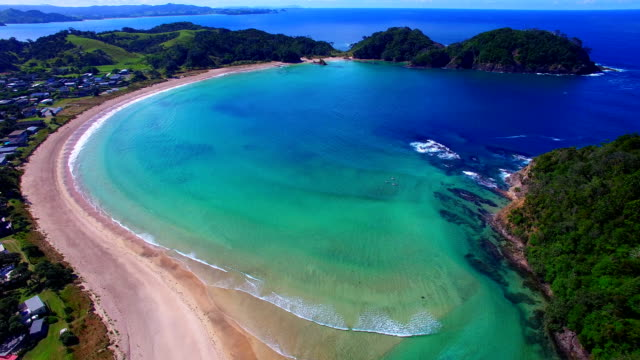 Flying over Matapouri Bay video