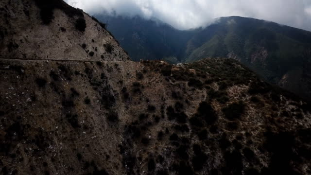 Flying Over Mountainous Terrain in California video