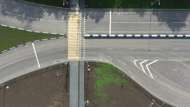 flying over new road. - длина стоковые видео и кадры b-roll