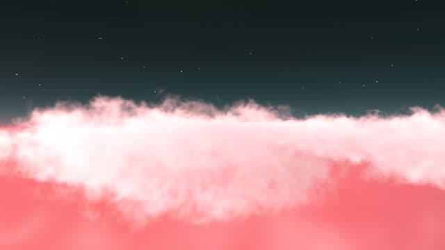 flygande över rosa moln - pink sunrise bildbanksvideor och videomaterial från bakom kulisserna