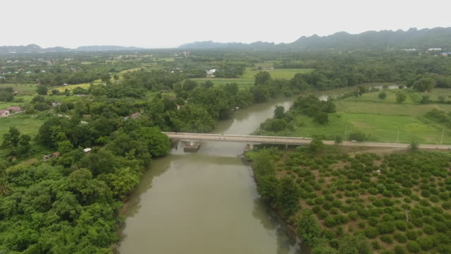 flying over river in rural area - provinz guangxi stock-videos und b-roll-filmmaterial