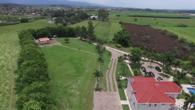 flying over rural area in latin america - ranch video stock e b–roll