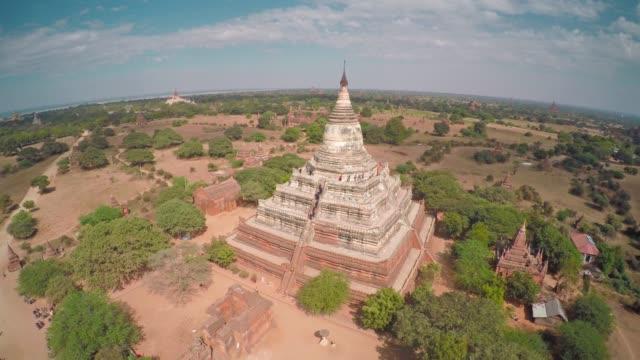 Flying over Shwesandaw Pagoda and Temples in Bagan Flying over Shwesandaw Pagoda and Temples in Bagan, Myanmar (Burma), 4k bagan stock videos & royalty-free footage