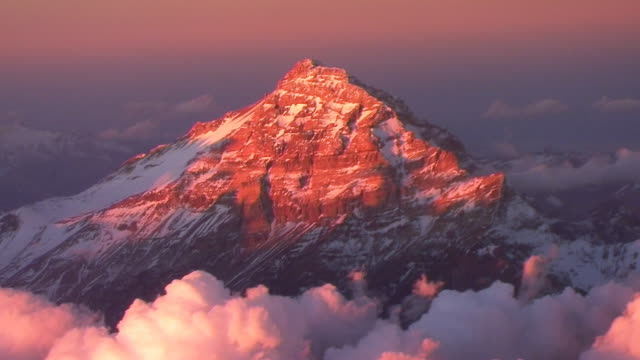 Flying over the Andes Mountains video