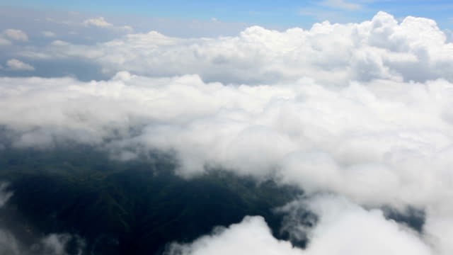 Flying over the cloud video