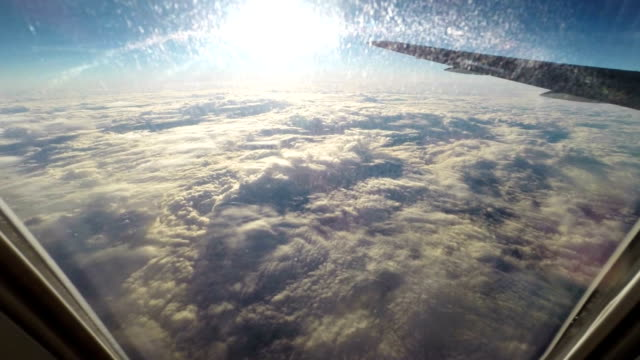 Flying over the clouds video