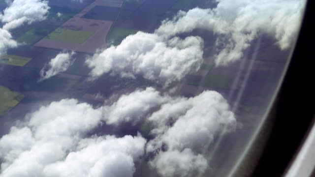 Flying over the clouds. View from plane aircraft. video