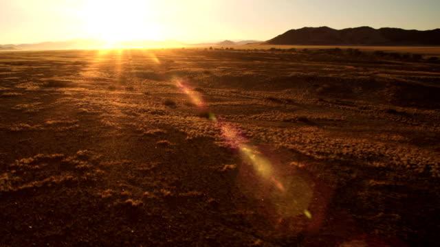 Flying over the desert video