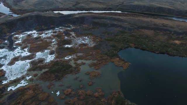 飛越咸湖, 污染了廢棄物。 - 亞洲中部 個影片檔及 b 捲影像
