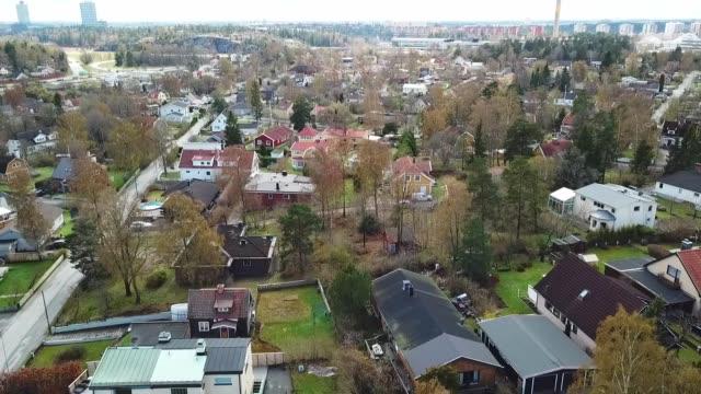 flygande över villaområde - sweden bildbanksvideor och videomaterial från bakom kulisserna