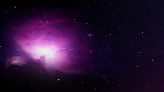 flygande förbi en lila nebulosa i rymden - nightsky bildbanksvideor och videomaterial från bakom kulisserna