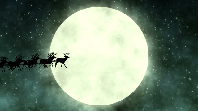 Flying Santa Claus video