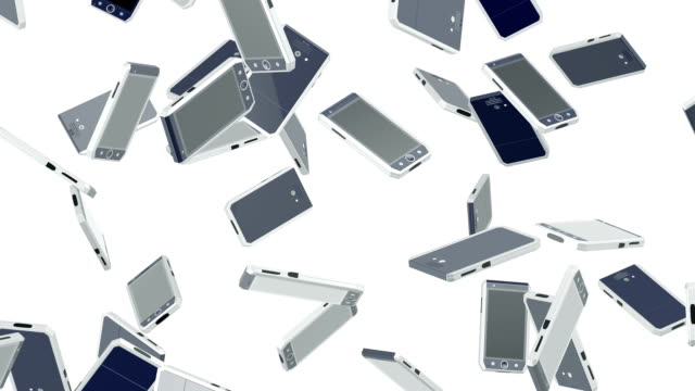 Flying smartphones. Looping. Alpha channel is included. My own design. video