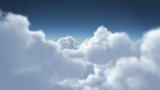 Flying through a cloudy sky, clean view. Loopable. Aerial. Cumulus. video