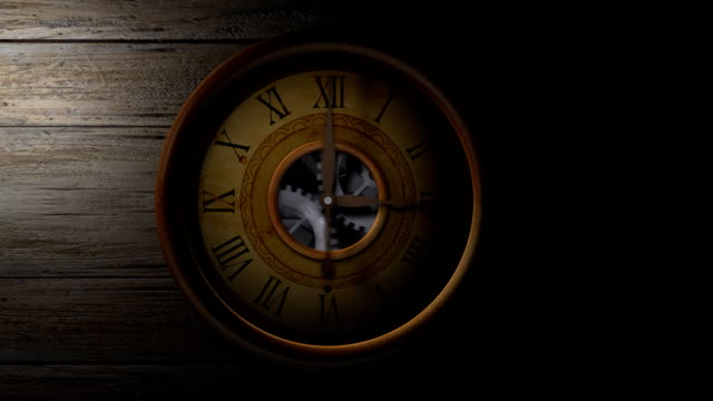Flying Through An Old Clock Flying through an old clock, revealing the cogwheels that runs the clock. HD. caustic light effect stock videos & royalty-free footage