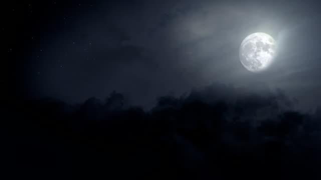 Flying Through Clear Night Sky - Loop