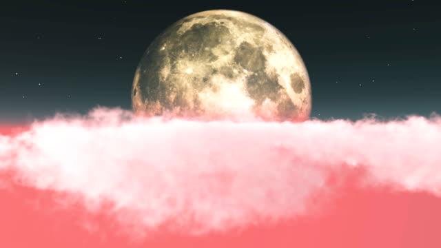 durch wolken in richtung mond zu fliegen - ewigkeit stock-videos und b-roll-filmmaterial