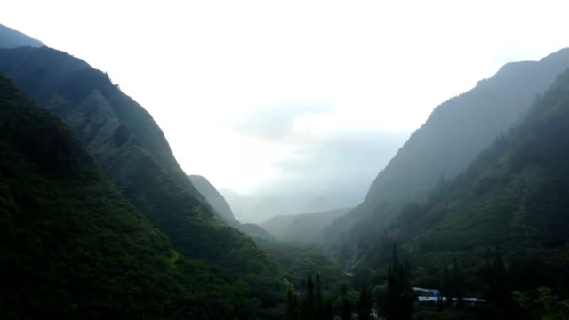 Flying Through Long Mountain Valley on Island of Maui video