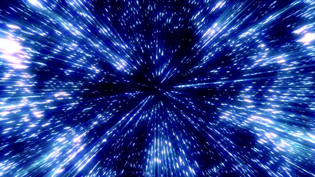 Flying through space video