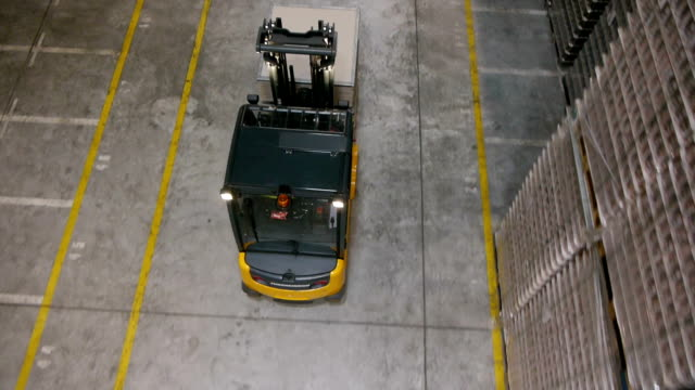 Flying through the big warehouse video