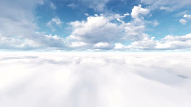 fliegen durch die wolken (loopable) - fliegen stock-videos und b-roll-filmmaterial