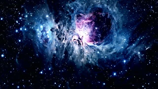 flyga genom orionnebulosan. - 4 kilometer bildbanksvideor och videomaterial från bakom kulisserna