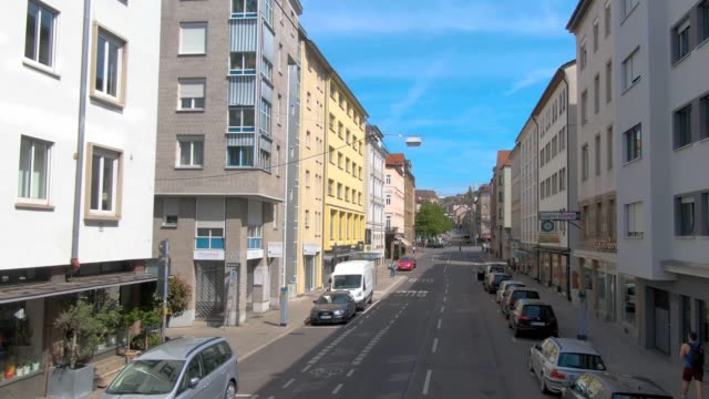 Flying through the streets of Stuttgart, Germany. video