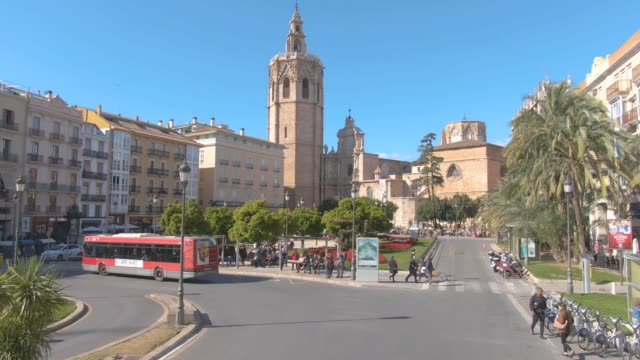 Flying through the streets of Valencia