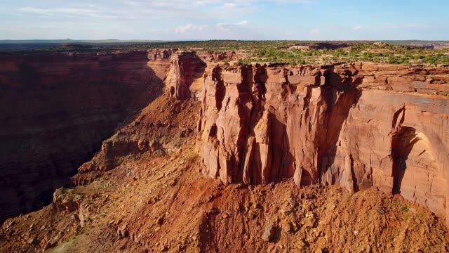 Flying Towards Dead Horse Point State Park