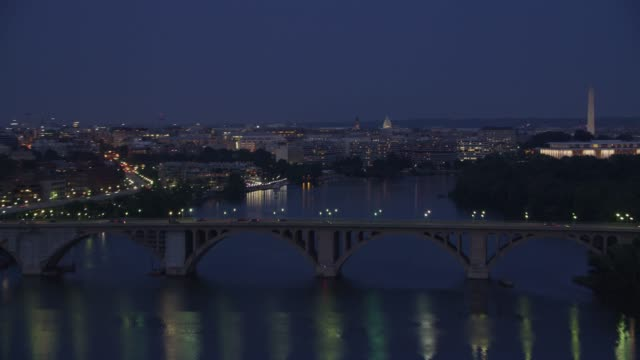 Flying up Potomac river at dusk.