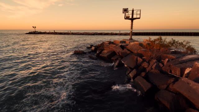 Flyover Pier Sunset