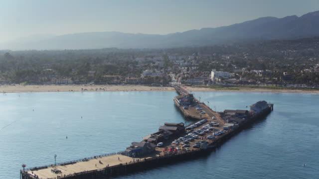 Flypast Shot of Stearns Wharf, Santa Barbara video