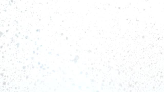 hd: schiuma che affluisce attraverso la finestra - gommapiuma video stock e b–roll