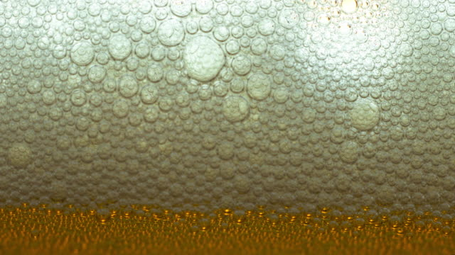 Foam from beer - video