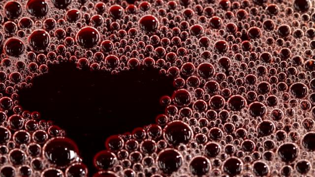 Foam in the cherry juice