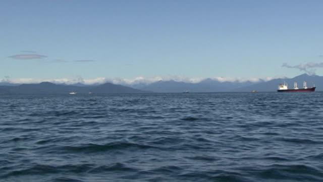 Foamy trace from a boat. Boat trip. video