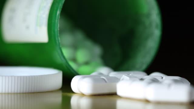 vídeos y material grabado en eventos de stock de centrándose en los opioides recetados - píldoras