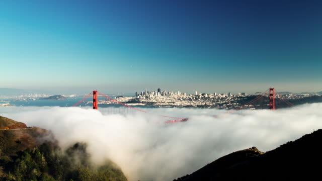 Fog at Golden Gate Bridge. 4K. video
