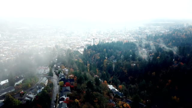 fog dissipates to reveal Portland video