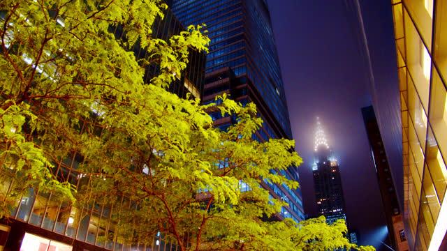 Fog. Empire State Building. 34th Street New York Skyline.