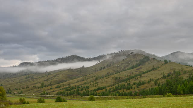 Fog in the mountains video