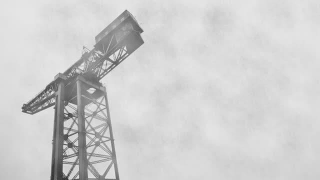 Foggy Docklands Crane