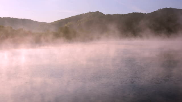foggy lake video
