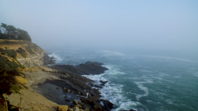 Foggy Scenic View Of Northern California Coastline