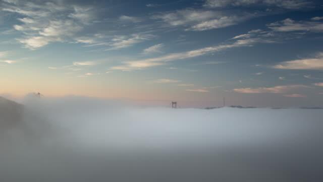 Foggy Sunrise at Golden Gate Bridge. video