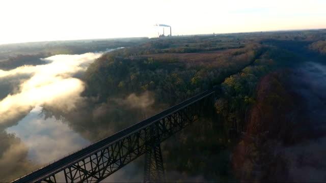 Foggy Sunrise over Bridge