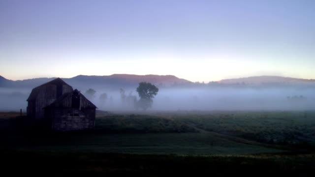 foggy timelapse - ahır stok videoları ve detay görüntü çekimi