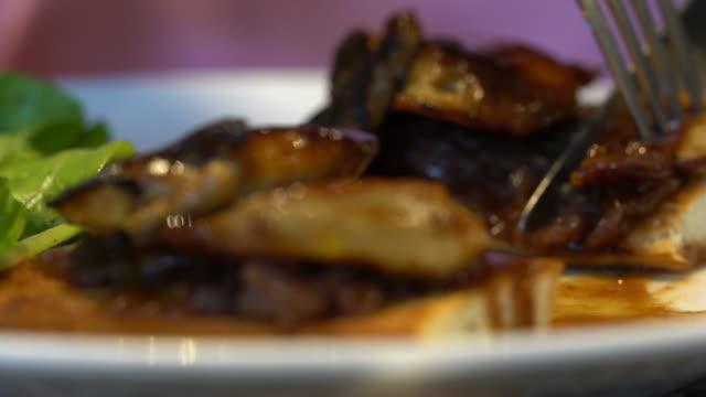 Foie gras dish video