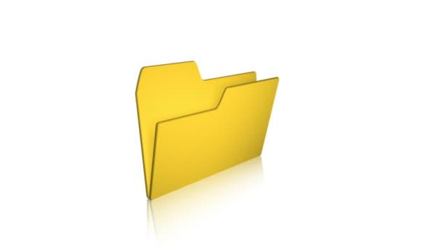 フォルダ 01 文書のコンピュータファイル - ファイル点の映像素材/bロール