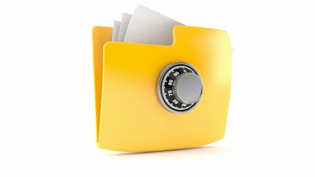 Folder with combination lock video